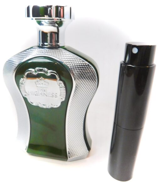 Afnan His Highness GREEN 8ml Travel Atomizer Parfum Cologne Oud Leather 12 Hours