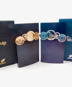 2 Bottles Of Tribute Niche Quality Fragrances 1 Blue and 1 Black Cologne Perfume